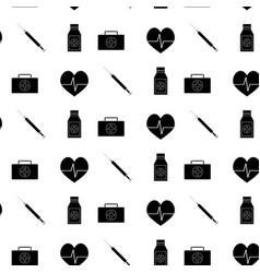 monochrome pattern medicine vector image