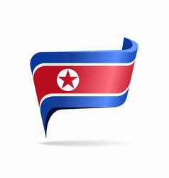 North korean flag map pointer layout vector