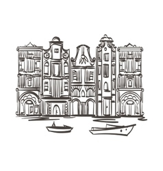 Old houses art Isolated Eps 10 vector
