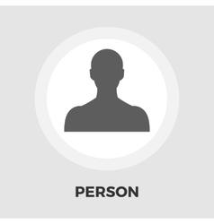 Person icon flat vector