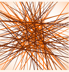 random chaotic intersecting lines abstract vector image