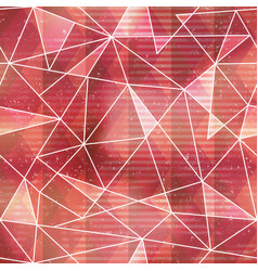 red triangle seamless pattern with grunge effect vector image