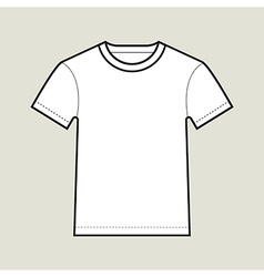 Roundneck T shirt Template vector
