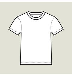 Roundneck t shirt template vector