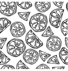 seamless endless pattern of citrus lemon lime vector image