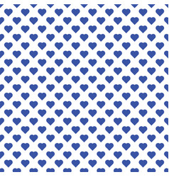 seamless pattern of small blue hearts on white vector image
