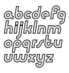 set of lower case alphabet letters can be used in vector image