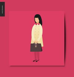 simple things - school girl vector image