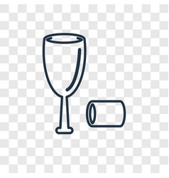 Sommelier concept linear icon isolated on vector