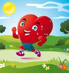 sport of heart vector image