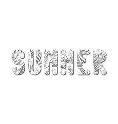Stylized word summer is squeezed out of white vector