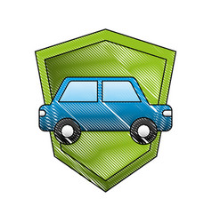 transport car vehicle shield protection insurance vector image
