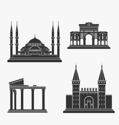 turkey architecture silhouette vector image