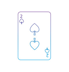 Two of spades french playing cards related icon vector