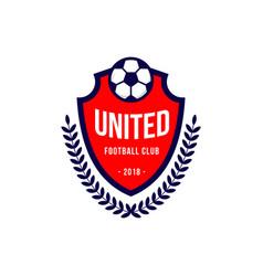 United football club logo template design vector
