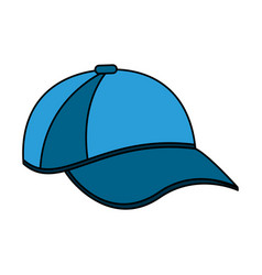 color image cartoon blue sport cap headwear vector image vector image