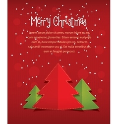 Merry christmass card with text red vector image vector image