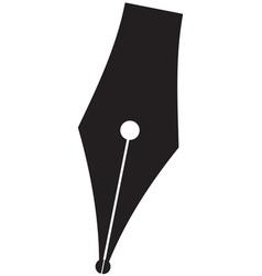 Silhouette pen vector image vector image