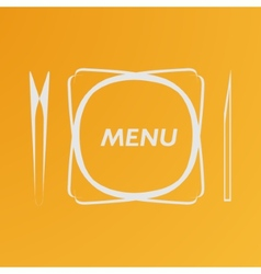 Simple flat cover cafe menu eps vector image vector image