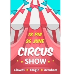 Big circus announcement poster vector