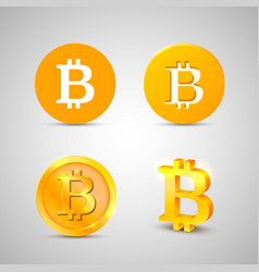 bitcoin icons set on the white background vector image