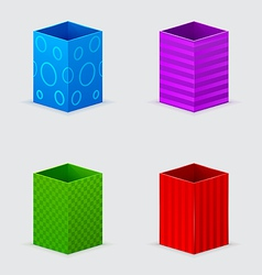 four cones gift boxes vector image vector image