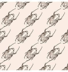 Hand drawn engraving Sketch of Scarab Beetle May vector image vector image