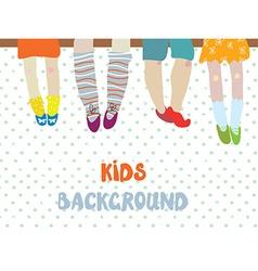 Kids background for kindergarten banner or card - vector image vector image