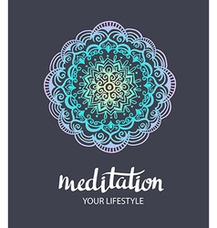 Mandala backgraund decorative template Trance Hand vector image vector image