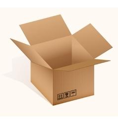 Open cardboard box vector