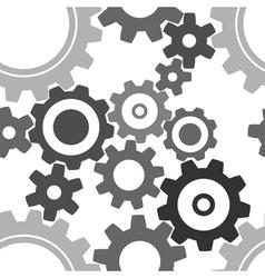 seamless cogwheel patterns vector image