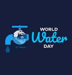 World water day background greeting card or vector