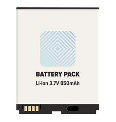 Battery pack li-ion or lithium-ion isolated white vector