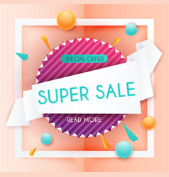 Sale banners design discounts and special offer vector