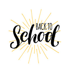 vintage back to school logo children vector image vector image