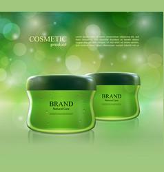 cosmetic ads poster moisturizing nourishing cream vector image vector image