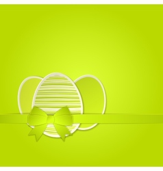 Easter egg with a bow template vector image
