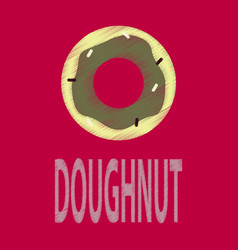 flat icon in shading style donut logo vector image vector image