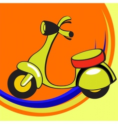 funny scooter vector image vector image