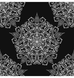 Handmade decorative ethnic seamless pattern in vector image