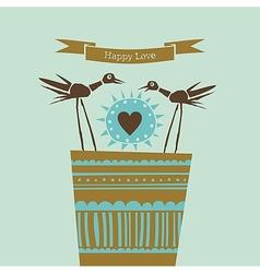 Happy love happy birds vector image vector image