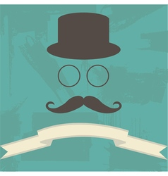 Hipster on Abstract Background vector image vector image