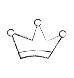 king crown drawing isolated icon vector image