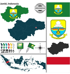 Map of Jambi vector image