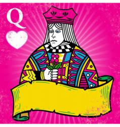 queen of hearts vector image