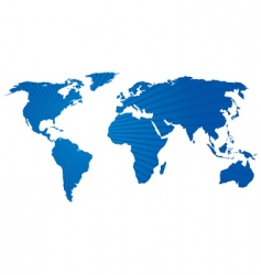 stripey world map vector image vector image