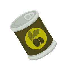 Tinned black olives vector