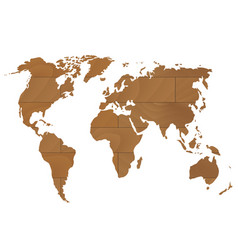 Relief world globe from texture paper royalty free vector wooden world map vector image gumiabroncs Images