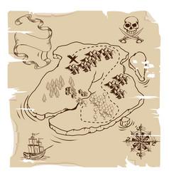Ye olde pirate treasure map vector