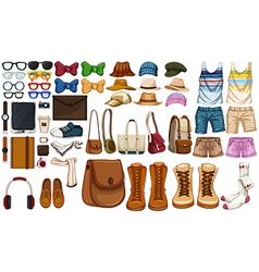 Accessories vector image